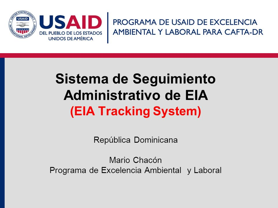 Sistema de Seguimiento Administrativo de EIA (EIA Tracking System)