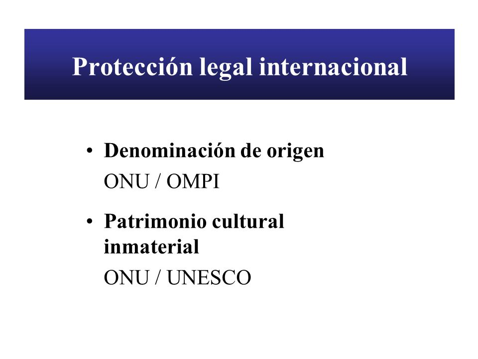 Protección legal internacional