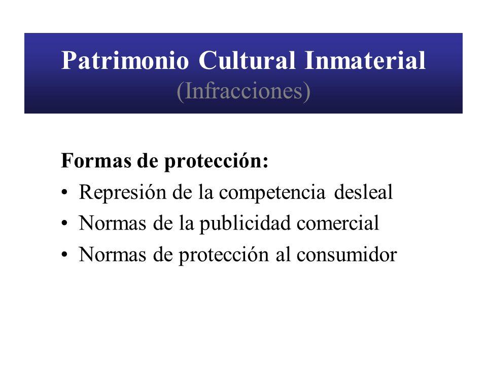 Patrimonio Cultural Inmaterial (Infracciones)