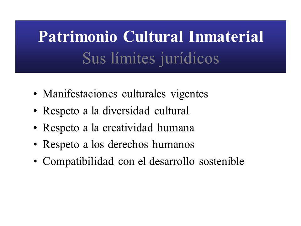 Patrimonio Cultural Inmaterial Sus límites jurídicos