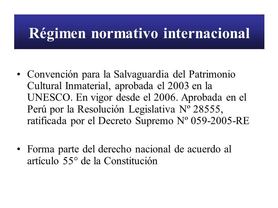 Régimen normativo internacional