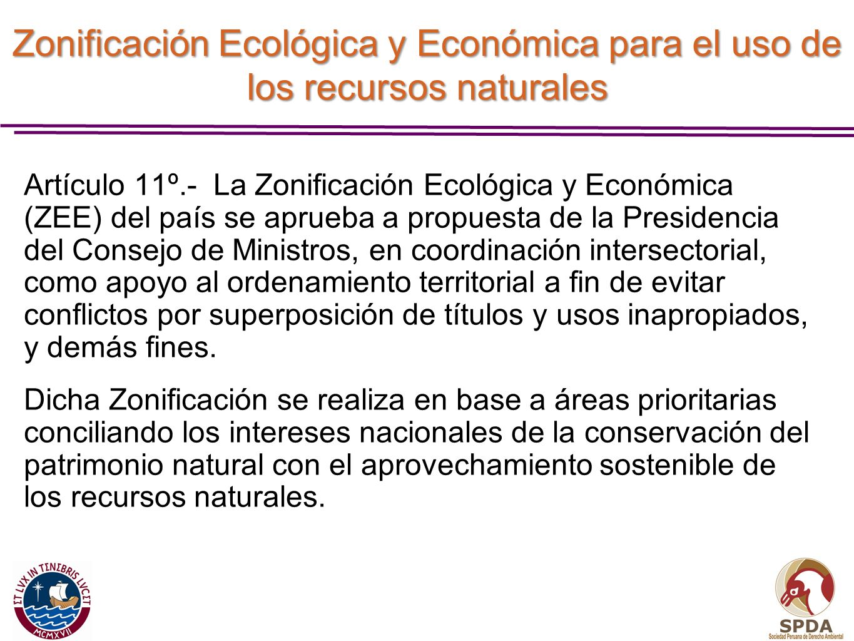 Zonificación Ecológica y Económica para el uso de los recursos naturales