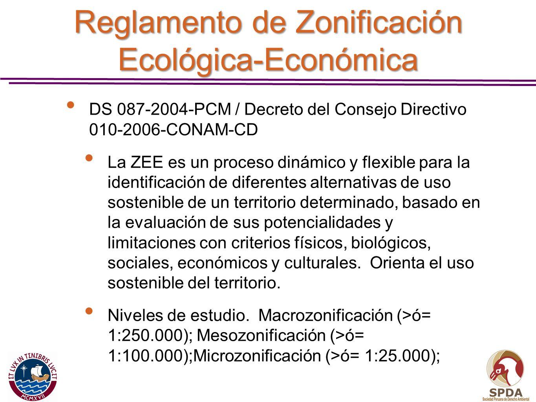 Reglamento de Zonificación Ecológica-Económica