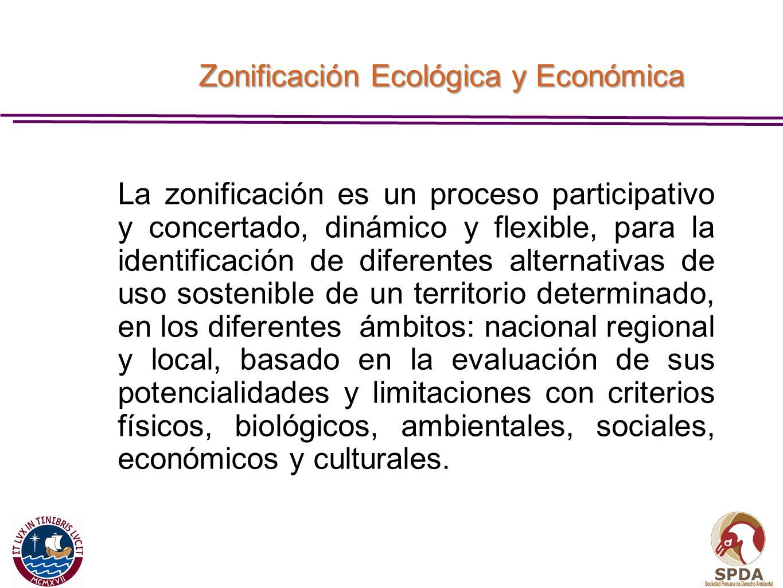 Zonificación Ecológica y Económica