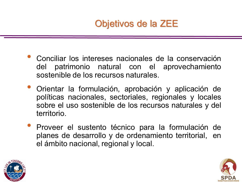 Objetivos de la ZEE