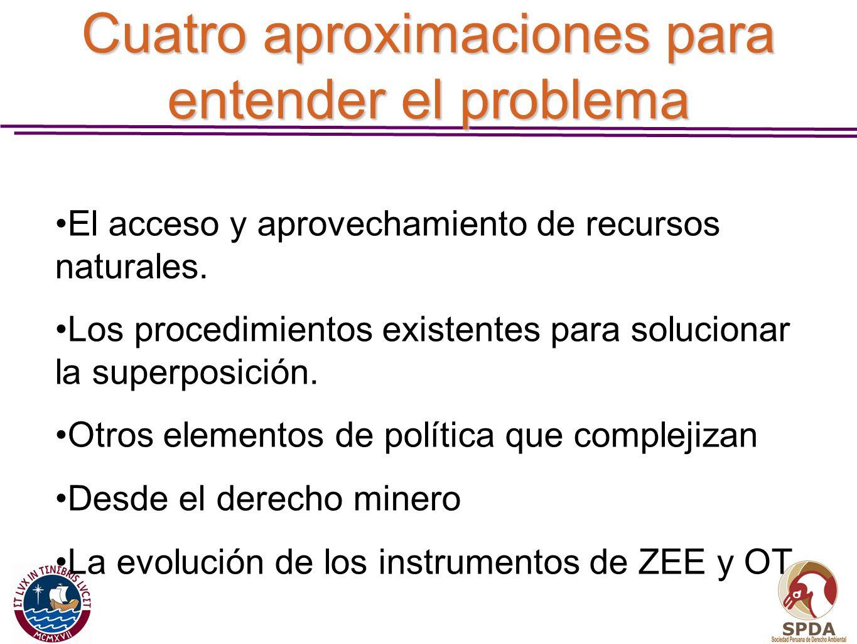 Cuatro aproximaciones para entender el problema
