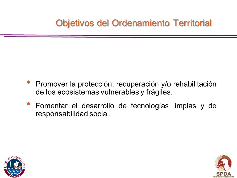 Objetivos del Ordenamiento Territorial