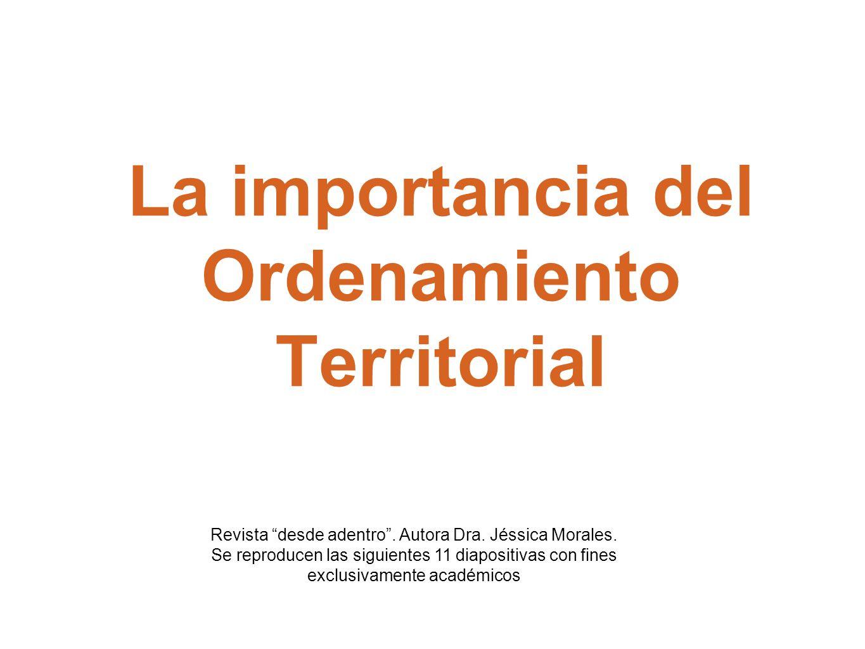La importancia del Ordenamiento Territorial