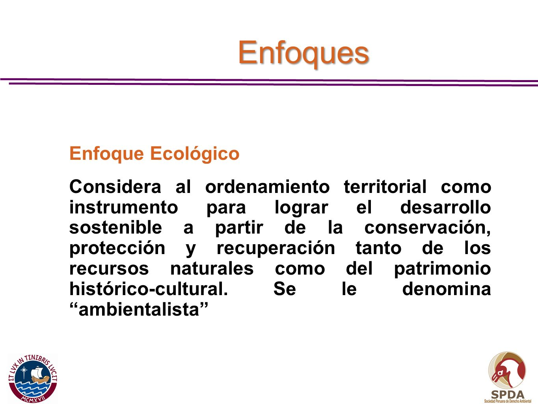 Enfoques Enfoque Ecológico.