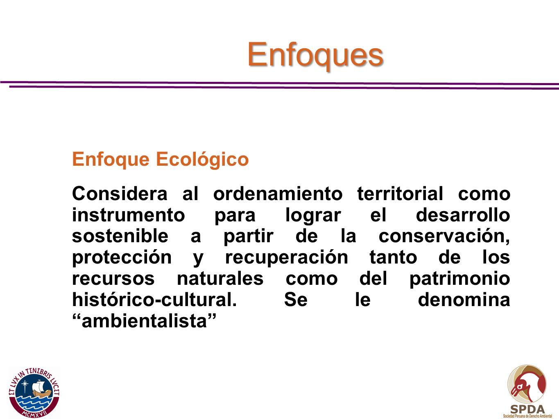 EnfoquesEnfoque Ecológico.