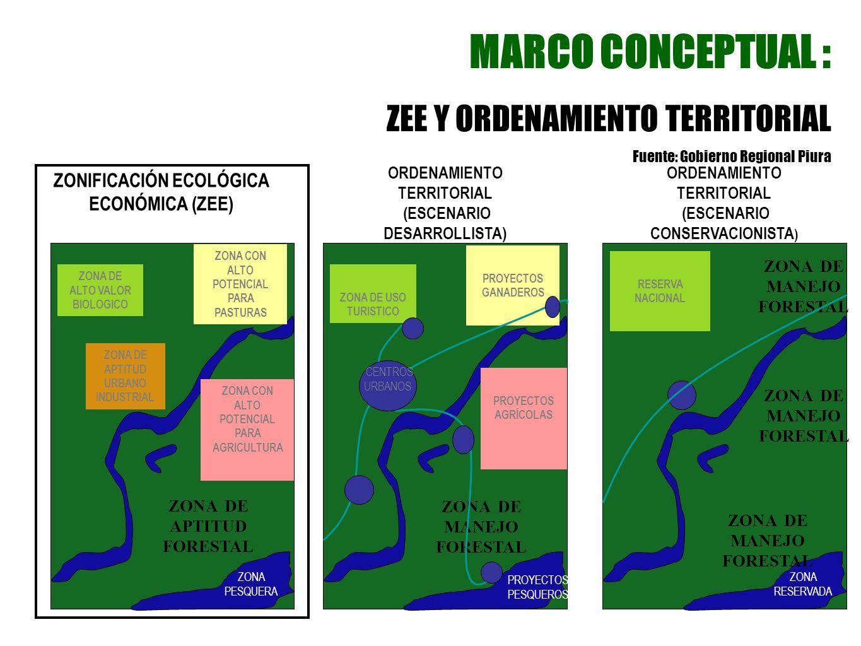 MARCO CONCEPTUAL : ZEE Y ORDENAMIENTO TERRITORIAL
