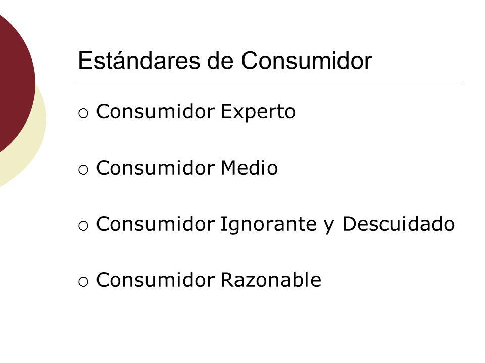Estándares de Consumidor