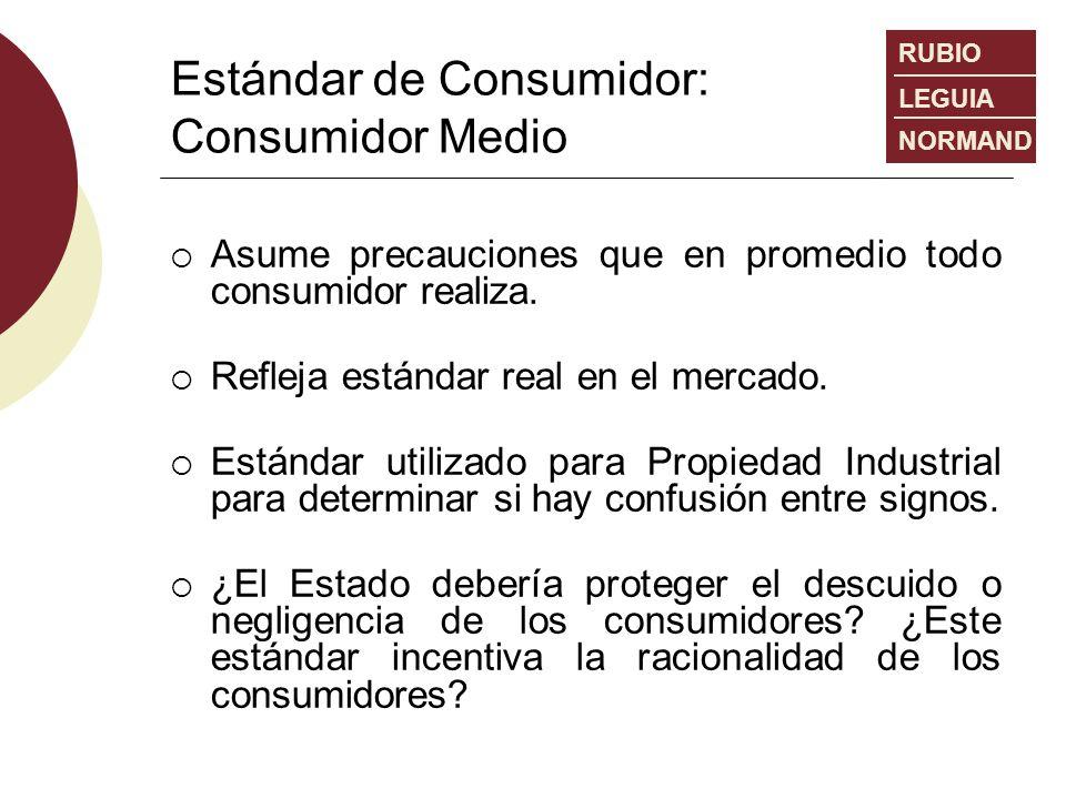 Estándar de Consumidor: Consumidor Medio