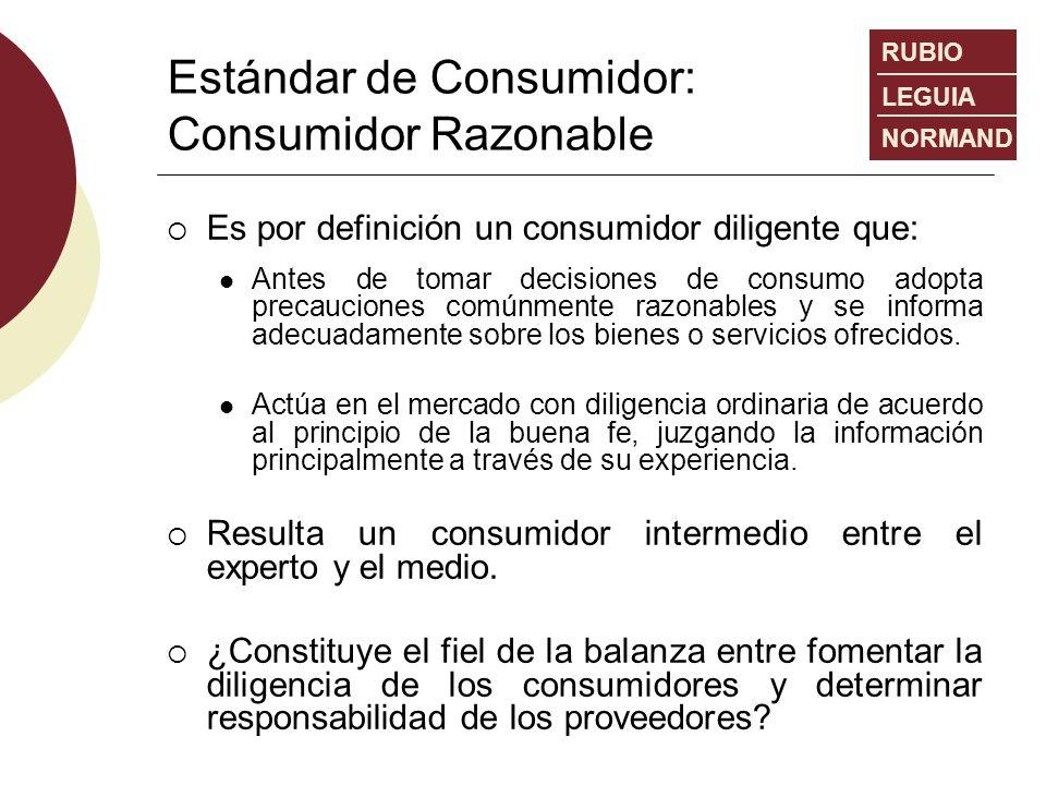 Estándar de Consumidor: Consumidor Razonable