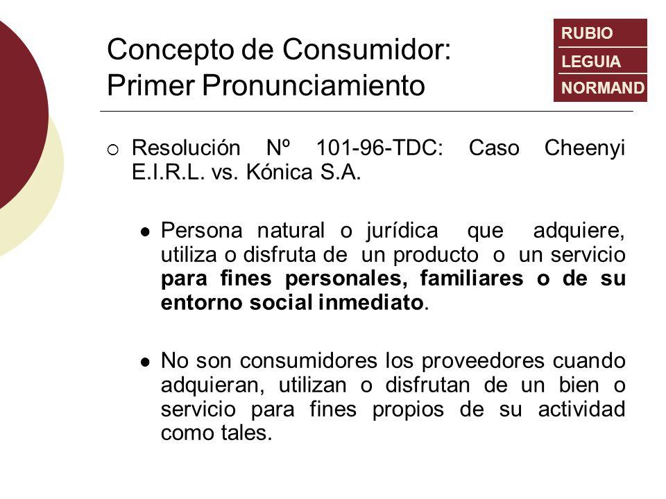 Concepto de Consumidor: Primer Pronunciamiento