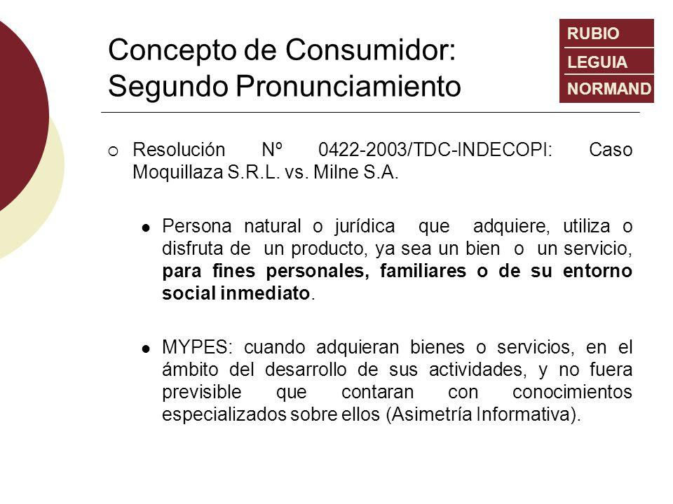 Concepto de Consumidor: Segundo Pronunciamiento