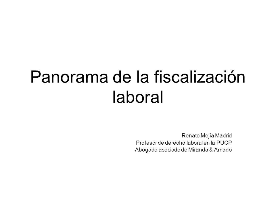 Panorama de la fiscalización laboral