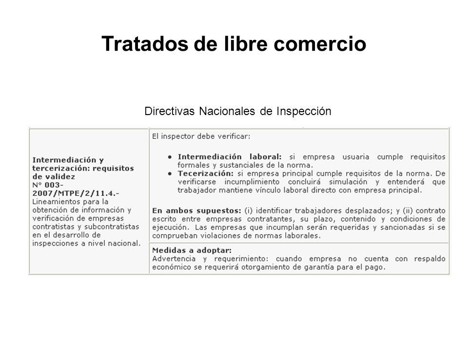 Directivas Nacionales de Inspección