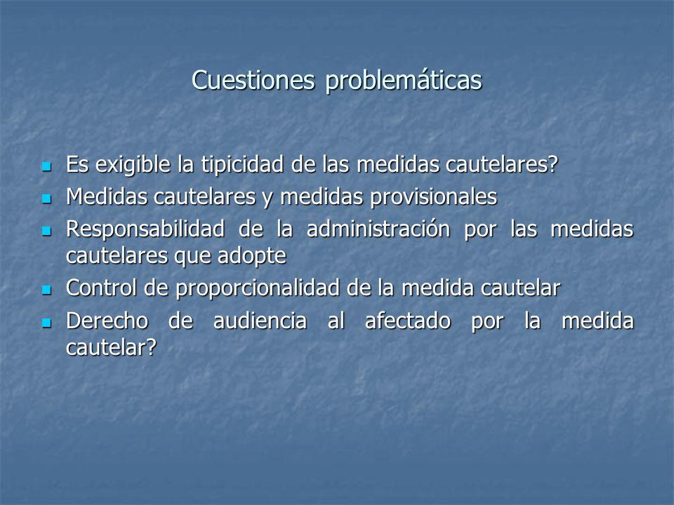 Cuestiones problemáticas
