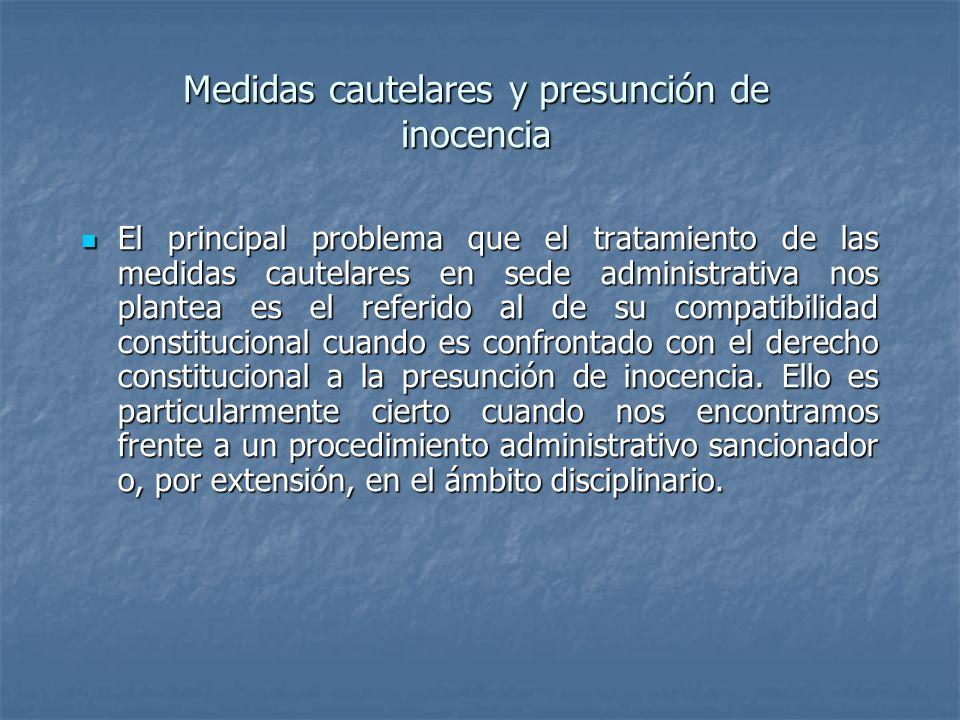 Medidas cautelares y presunción de inocencia
