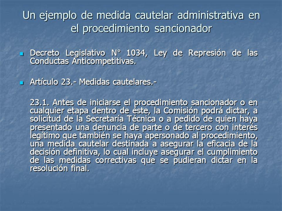 Un ejemplo de medida cautelar administrativa en el procedimiento sancionador