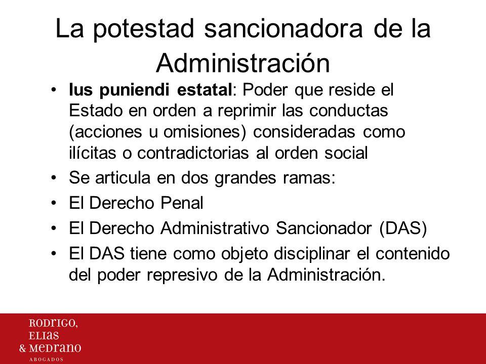 La potestad sancionadora de la Administración