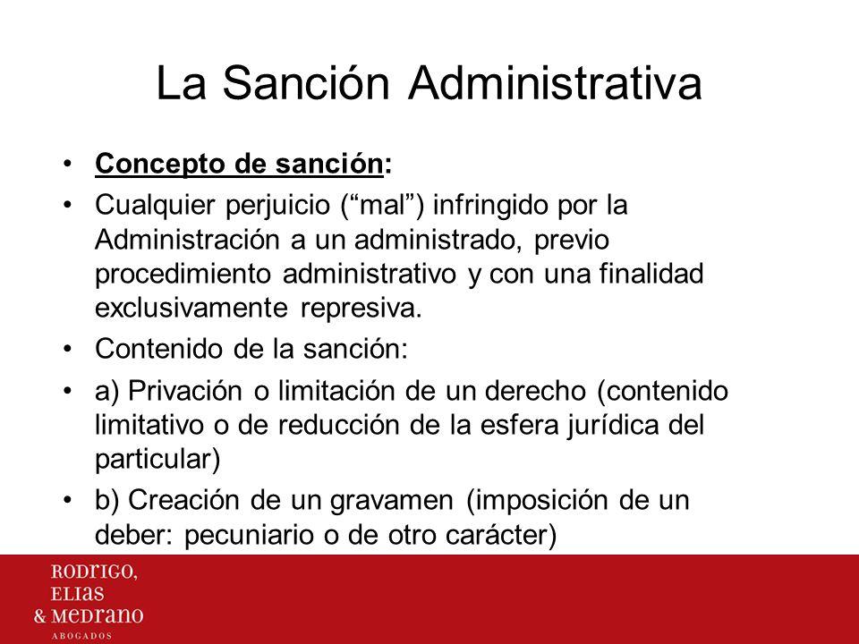 La Sanción Administrativa