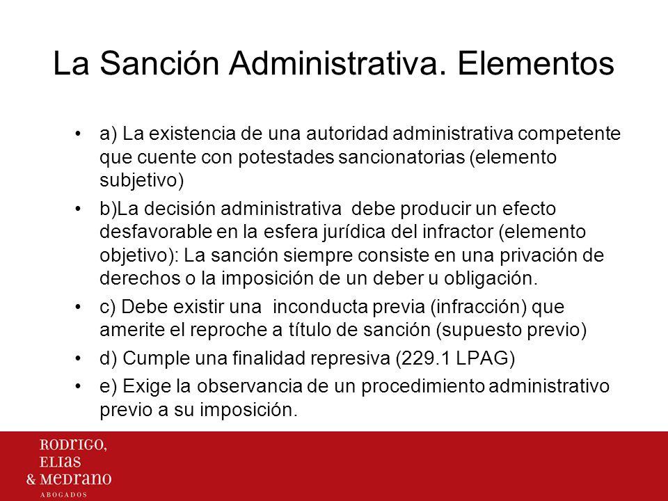 La Sanción Administrativa. Elementos