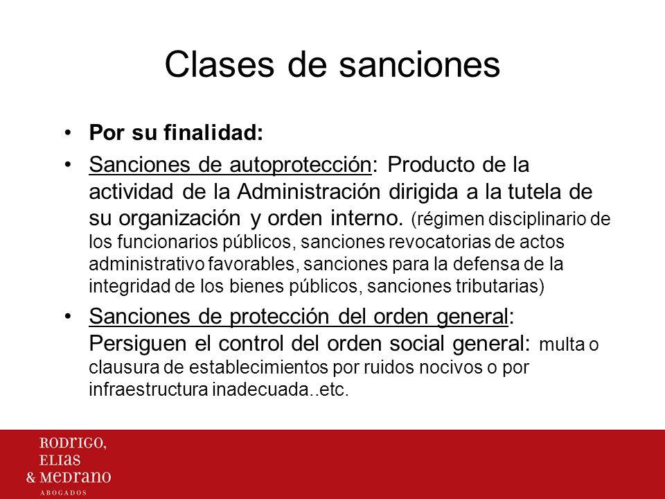 Clases de sanciones Por su finalidad: