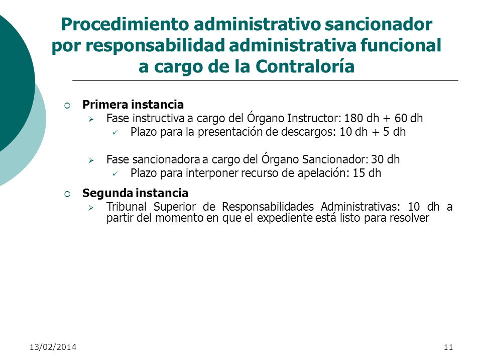 Procedimiento administrativo sancionador por responsabilidad administrativa funcional a cargo de la Contraloría