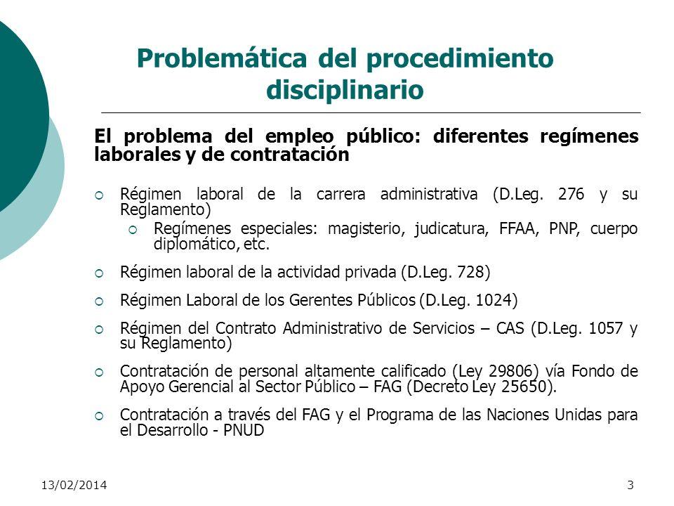 Problemática del procedimiento disciplinario