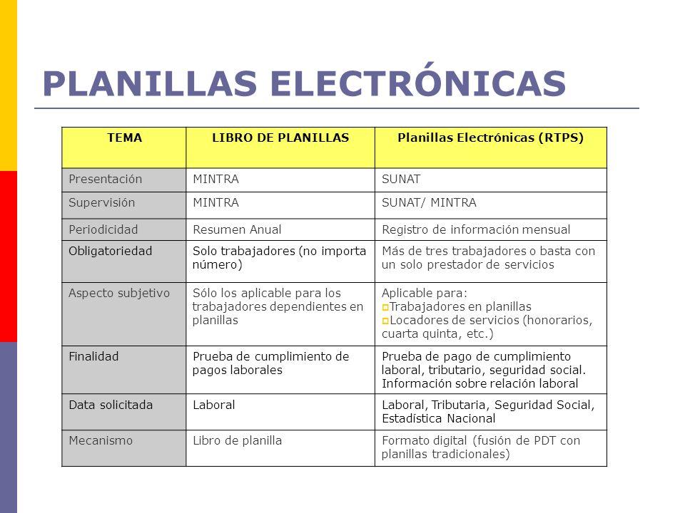 PLANILLAS ELECTRÓNICAS
