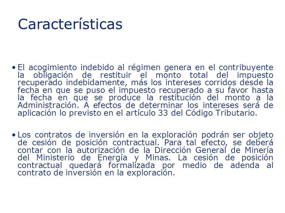 Insert section title Características