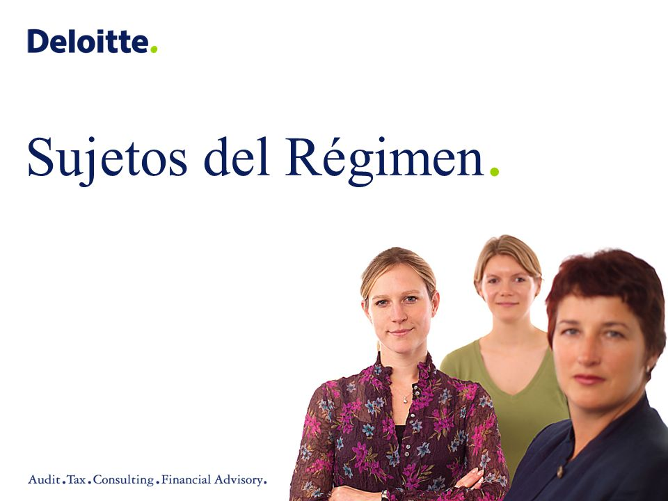 Sujetos del Régimen. Presentation Name (View / Header and Footer)