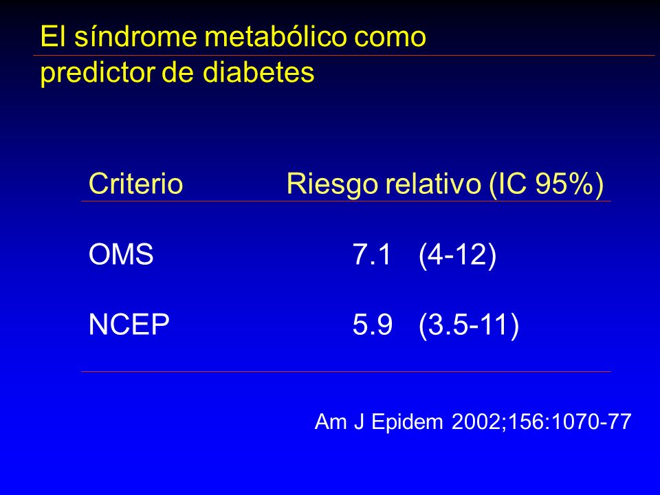 El síndrome metabólico como predictor de diabetes