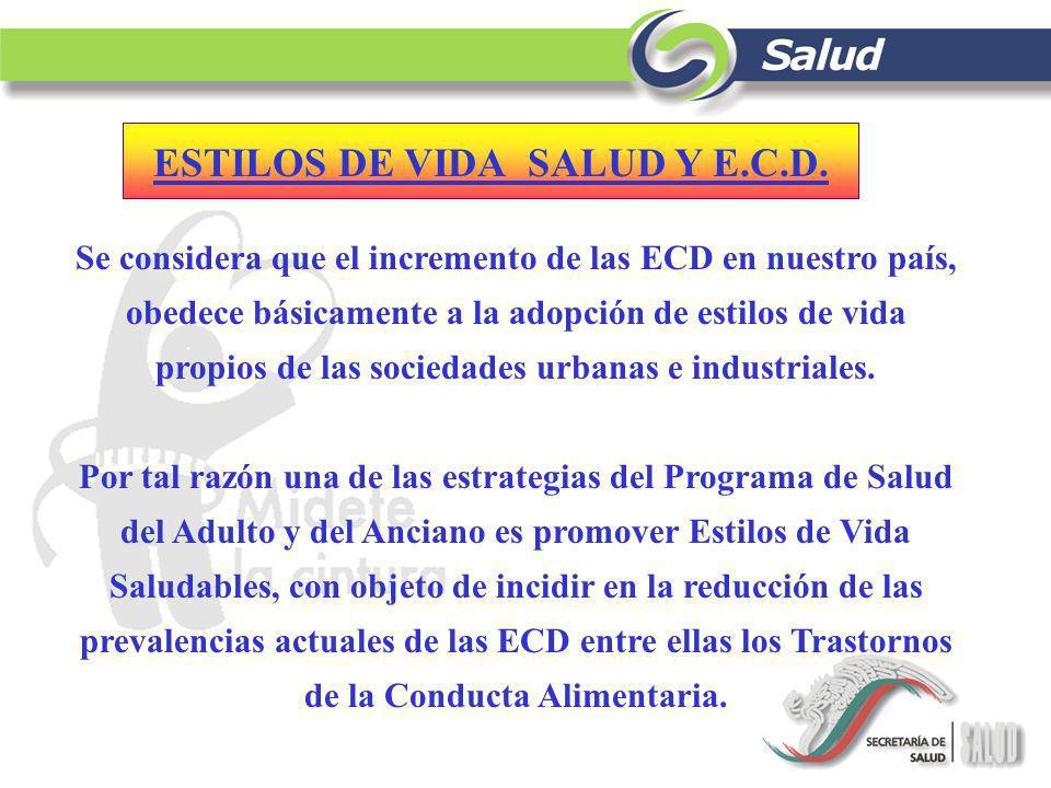 ESTILOS DE VIDA SALUD Y E.C.D.