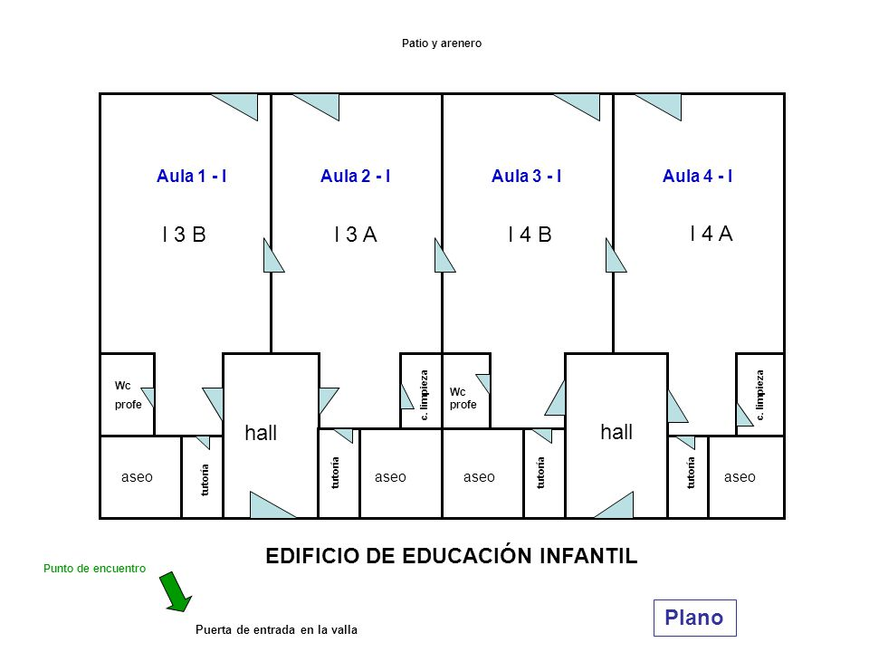 Planos del centro y v as de evacuaci n ppt descargar for Plano aula educacion infantil