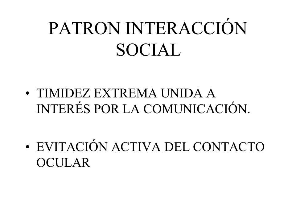 PATRON INTERACCIÓN SOCIAL