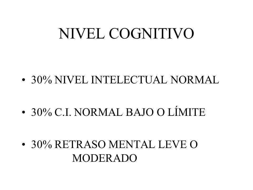 NIVEL COGNITIVO 30% NIVEL INTELECTUAL NORMAL