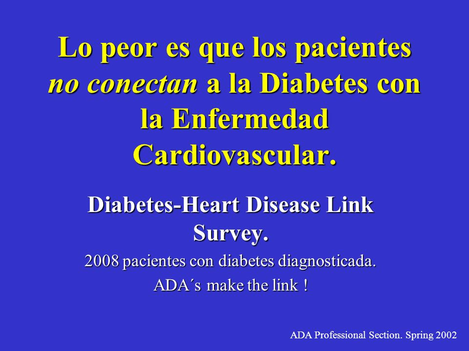 Diabetes-Heart Disease Link Survey.