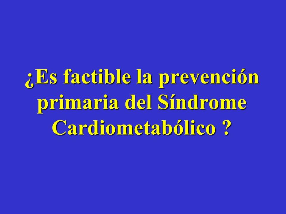 ¿Es factible la prevención primaria del Síndrome Cardiometabólico