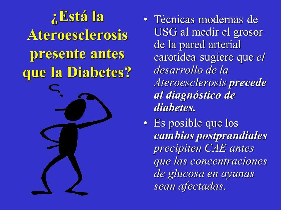 ¿Está la Ateroesclerosis presente antes que la Diabetes