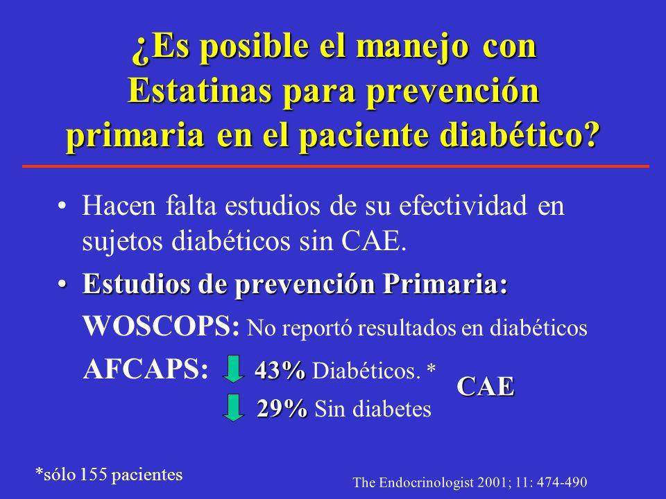 ¿Es posible el manejo con Estatinas para prevención primaria en el paciente diabético