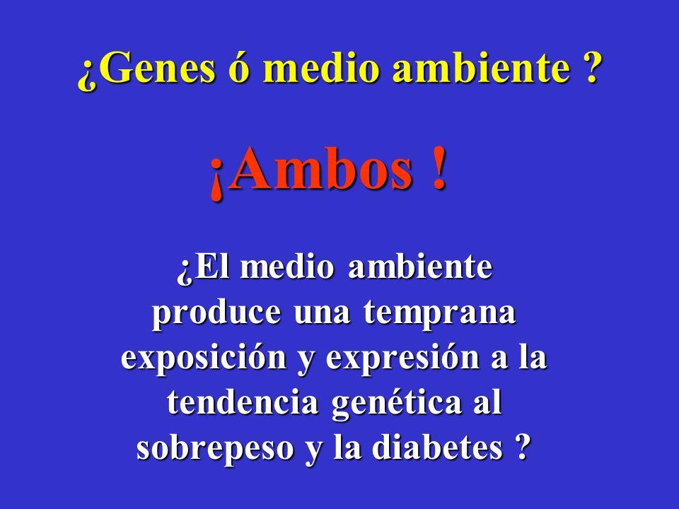 ¿Genes ó medio ambiente