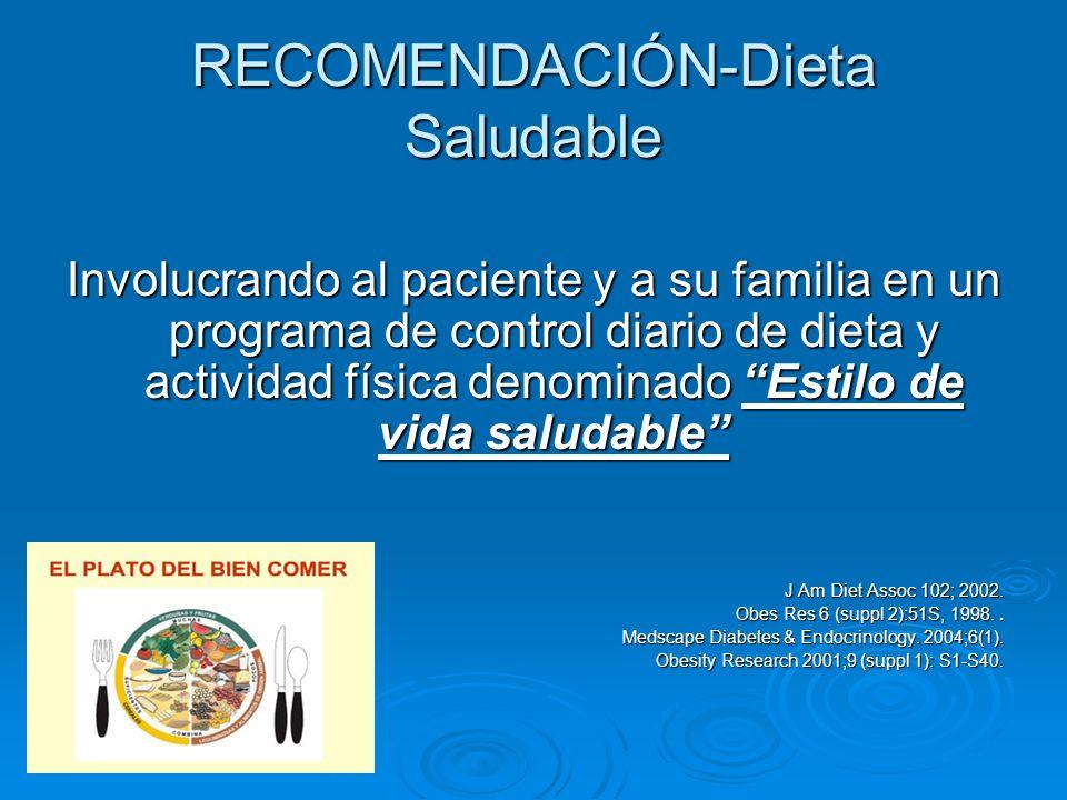 RECOMENDACIÓN-Dieta Saludable