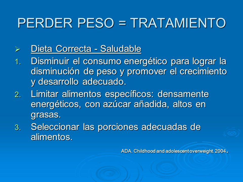 PERDER PESO = TRATAMIENTO