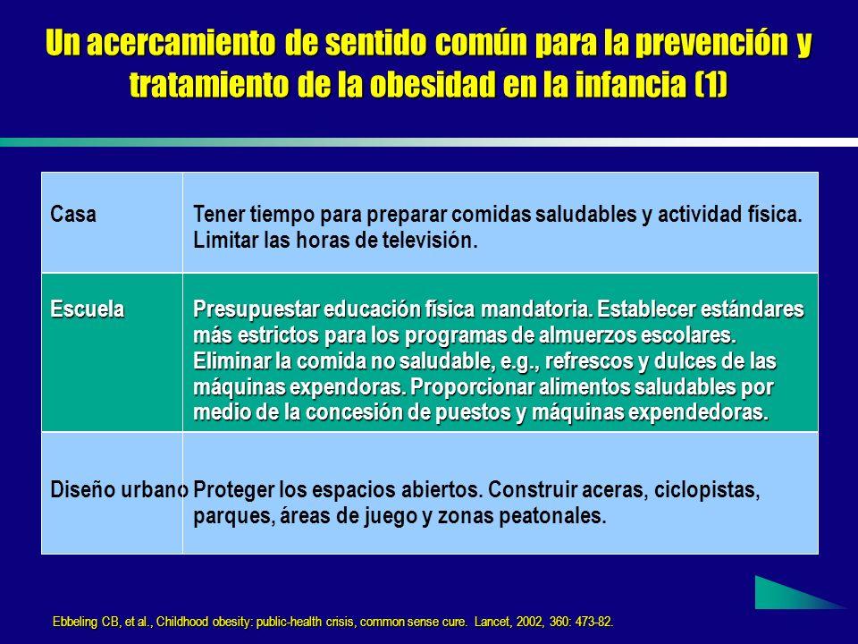 Un acercamiento de sentido común para la prevención y tratamiento de la obesidad en la infancia (1)