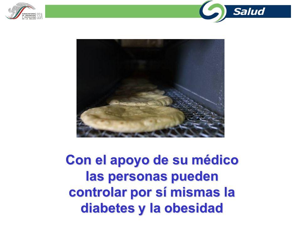 Con el apoyo de su médico las personas pueden controlar por sí mismas la diabetes y la obesidad