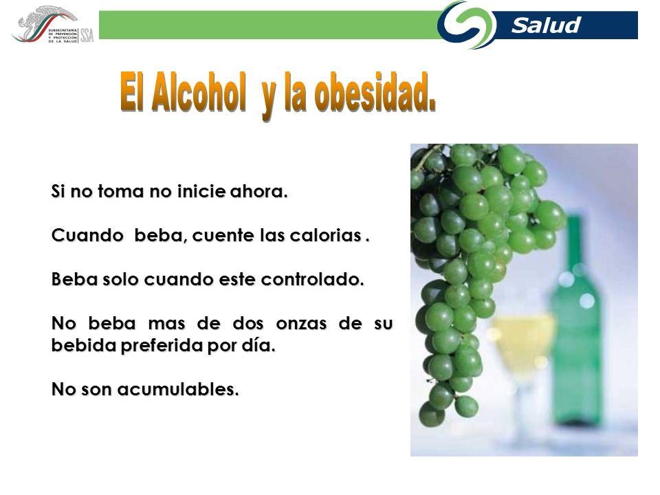 El Alcohol y la obesidad.