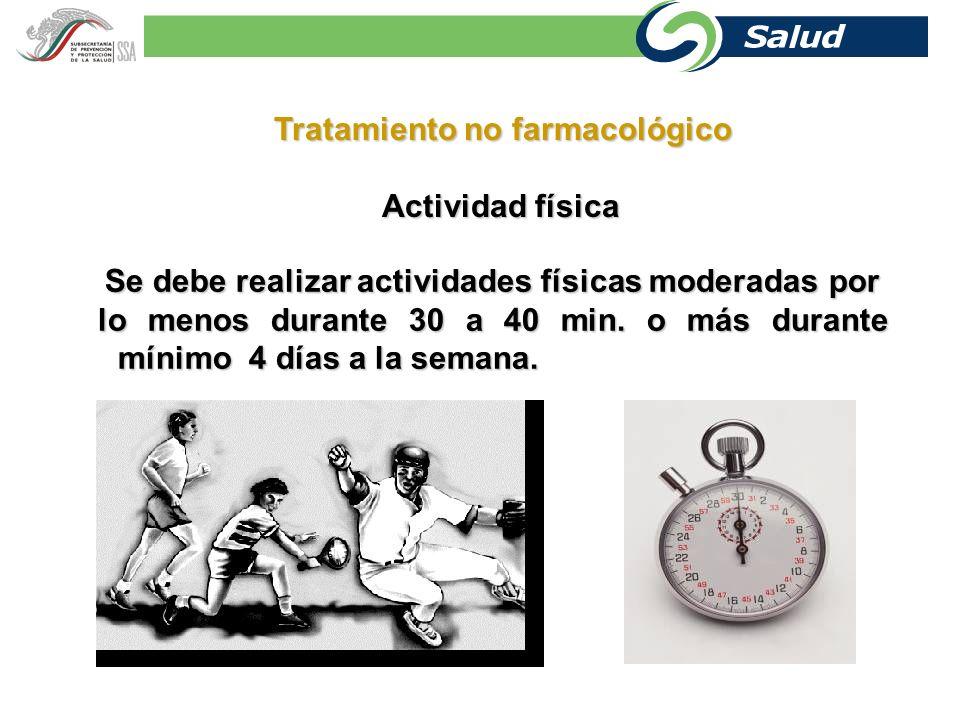 Tratamiento no farmacológico Actividad física